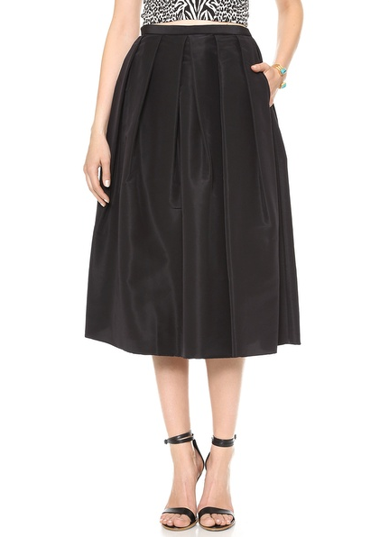 holiday, black, pleated