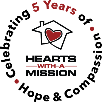 logo, hearts, shelter, mission