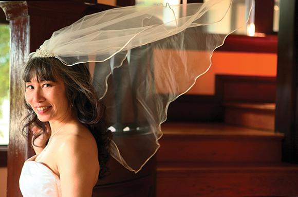 Paula bridal veil | thatwasthenthisiswow.com