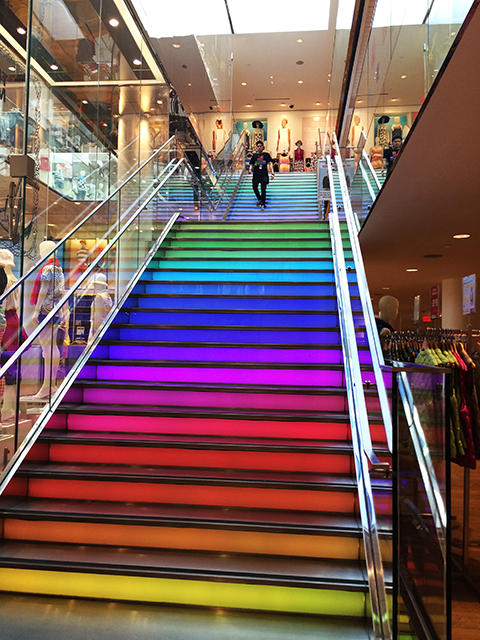 Rainbow Stairs | thatwasthenthisiswow.com