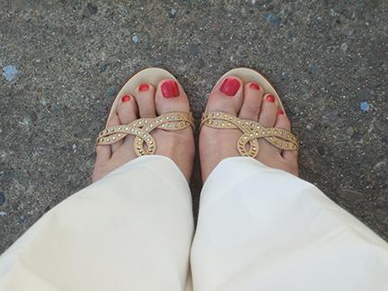 Paula Chan Rhinestone Sandals | thatwasthenthisiswow.com
